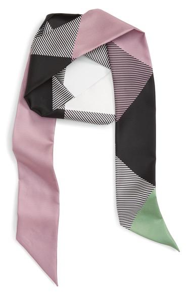 BurberryMegaCheckSilkSkinnyScarf