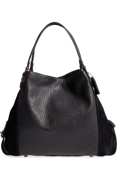 COACHEdie42LeatherSuedeShoulderBag