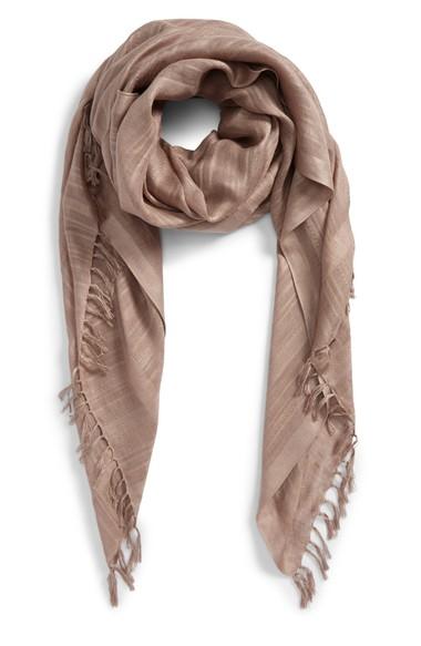 CaslonSolidLinenBlendScarf